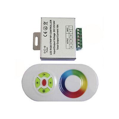 Érintésérzékeny RF RGB LED vezérlő 12V/24V LED szalaghoz 12A