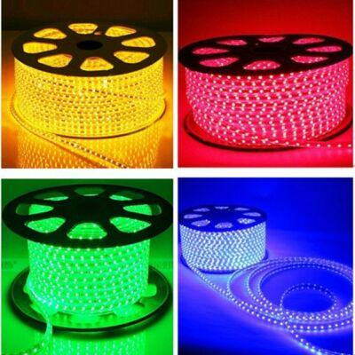 LED szalag, 5050, 60 SMD/m, 230V, vízálló, RGB