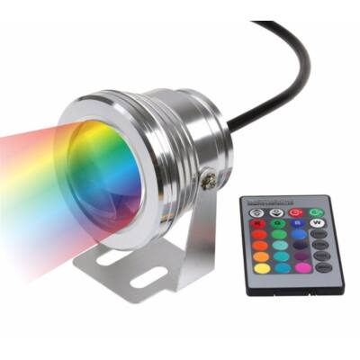 LED reflektor 9W, 12V, kültéri, RGB - IP65 -
