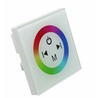 Fali RGB LED vezérlő, érintős,  fehér
