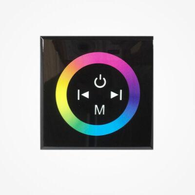 Fali RGB LED vezérlő, érintős,  fekete