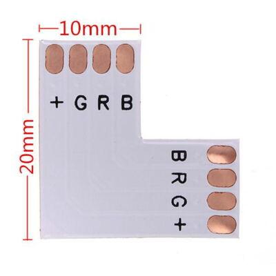 RGB LED szalaghoz sarokelem 10mm forrasztható